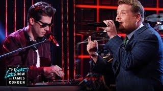 Late Late Show Monologue Rap with Mark Ronson Video