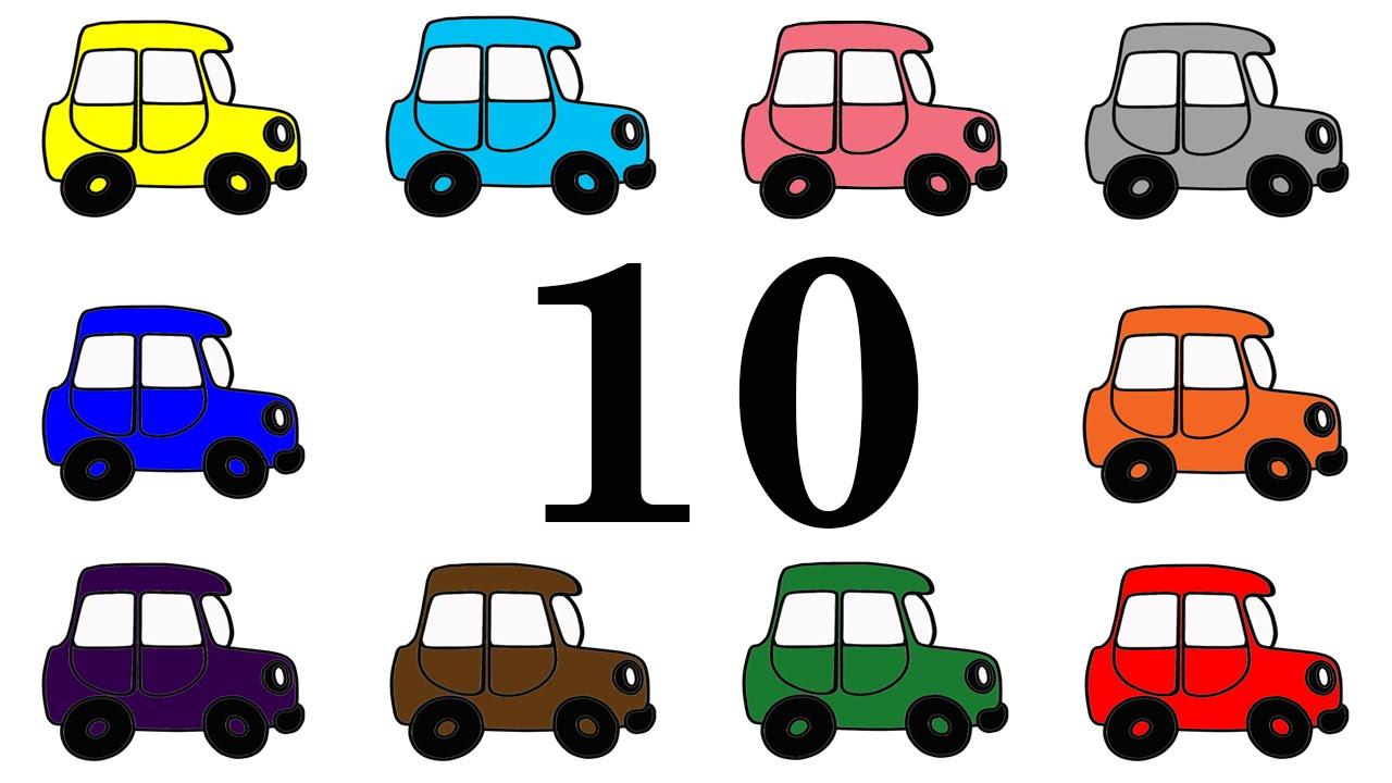 Coches E Numeros Para Niños Aprender Los Numeros Del 1 Al 10 En