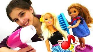 МиМиЛэнд: Куклы Барби делают прически. Игры для девочек.