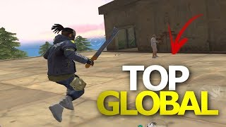 JOGUEI COM UM TOP GLOBAL - FREE FIRE BATTLEGROUNDS