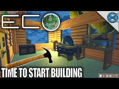 Eco | Time To Start Building | Let's Play Eco Gameplay | S01E24