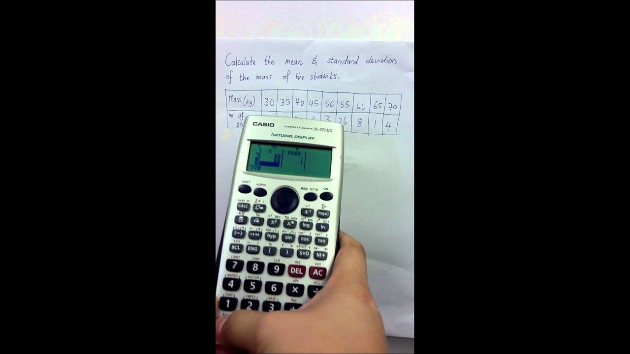 Casio Natural Display Calculator Standard Deviation And Mean Of