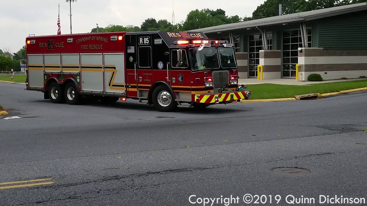 Rescue 85 Responding to an ALS Medical - Spring Township, PA