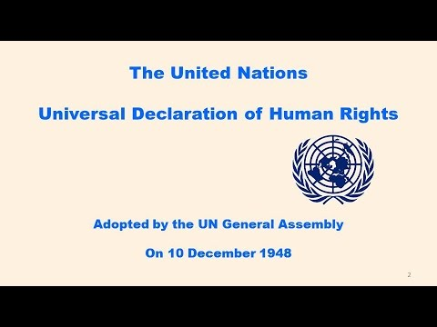 The UN ● Universal Declaration of Human Rights ● 10 December 1948
