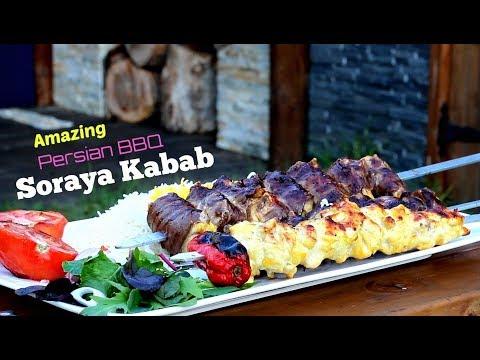 Amazing Soraya Kabab _ Persian BBQ Recipe _ Iran's most Expensive Kebab
