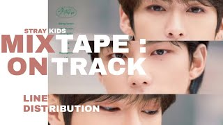 Gambar cover Stray Kids - Mixtape : On Track (Line Distribution) (HAPPY ANNIVERSARY)