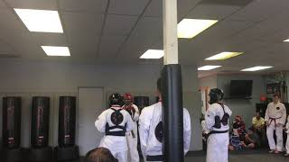 GMO and L. Visda of Sidekicks Martial Arts Academy at Aspire Martial Arts Testing Event (Fall 2018)