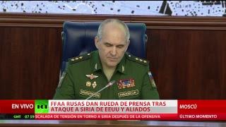FF.AA. rusas dan rueda de prensa tras ataque a Siria de EE.UU., Francia y Reino Unido