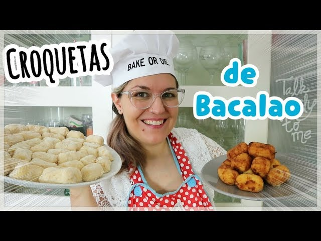 CROQUETAS DE BACALAO | Aperitivos fáciles y rápidos