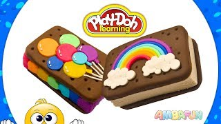 Sandwich Ice Cream. DIY for Kids. Crafts with Play Doh. Videos for Kids. Learn Colors