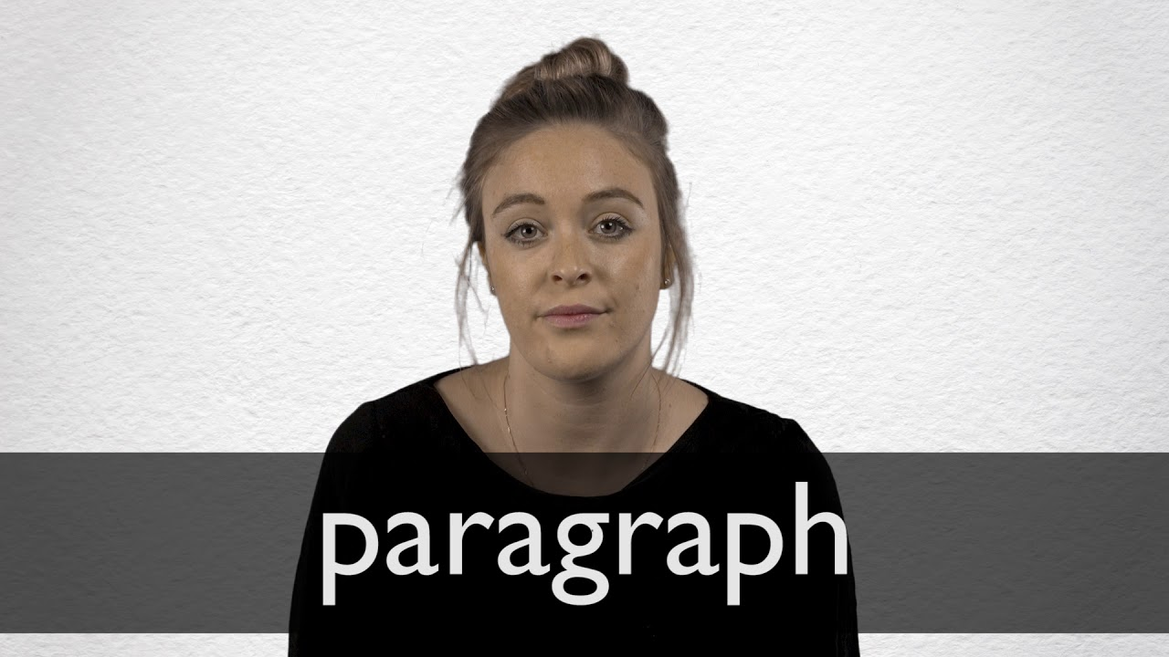 How to pronounce PARAGRAPH in British English