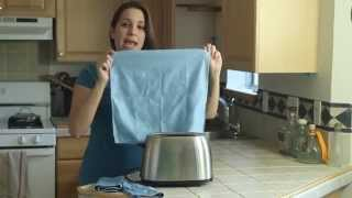 Cleaning Stainless Steel Polishing Cloth Premium Microfiber Towel from Pro Chef Kitchen Tools