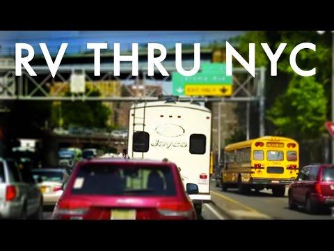 Driving a RV thru NYC : RV Fulltime w/9 kids