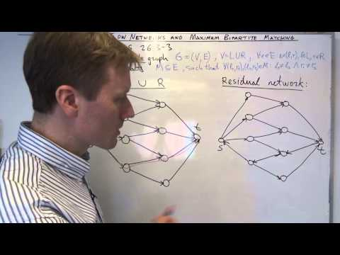 AALG5: Flow networks, maximum bipartite matching example