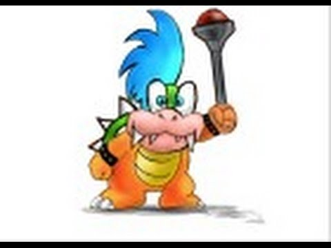How To Draw Larry Koopa From Super Mario Youtube