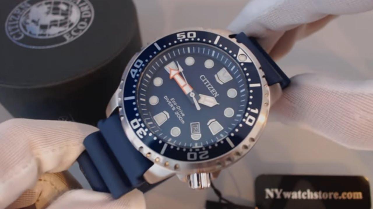 fa196659f Men s Citizen Eco Drive Promaster Professional Diver Watch BN0151-09L -  YouTube