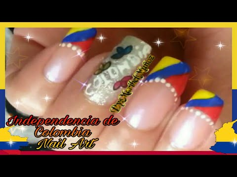 DecoraciÓn De UÑas Dia La Independencia Colombia Nail Art Design Colombian Independence Day