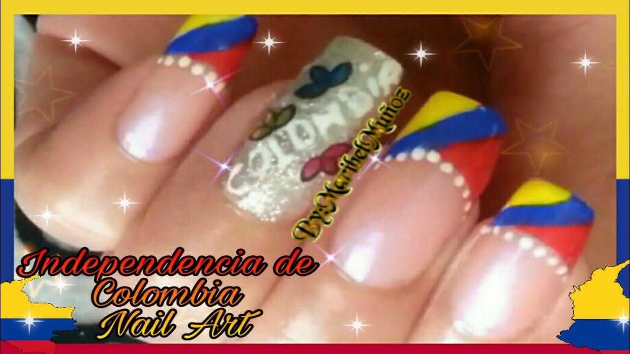 Uas Decoracion Independencia De Colombia Nail Art Design