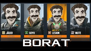 Best of Borat Impersonations - RB6 Funny Moments and Epic Fails