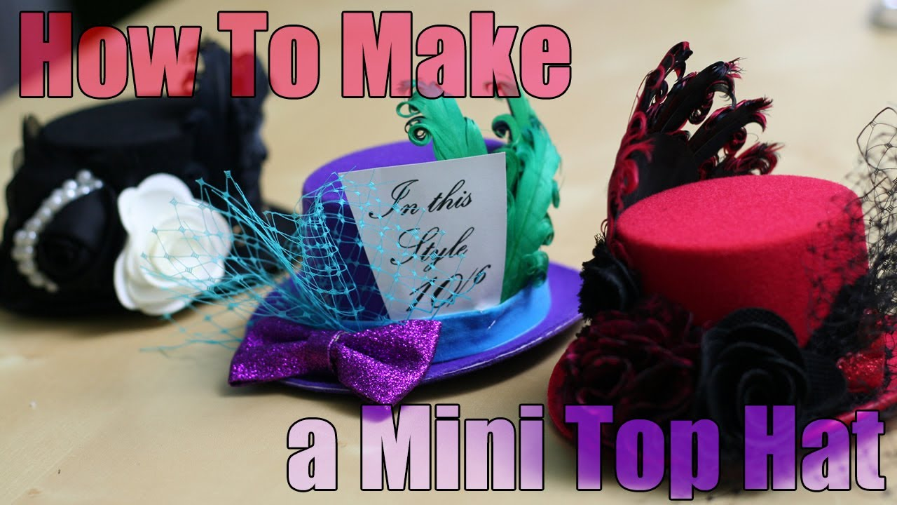 DiY Fashion - Mini Top Hat Fascinator Tutorial - YouTube