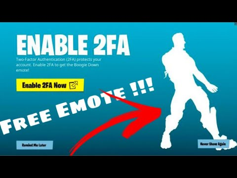Fortnite: How to Enable 2fa & Unlock Boogie Down Emote ...
