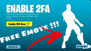Fortnite: How to Enable 2fa & Unlock Boogie Down Emote (Chapter 2) Ps4,Xbox,PC,Switch,Mobile