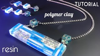 POLYMER CLAY JEWELRY.  PROJECT WITH HANDMADE RESIN BEADS