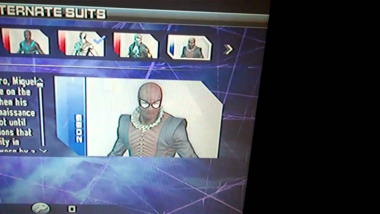 spider man edge of time all alternate costumes youtube