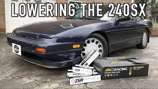 Lowering the 240: Installing New Coilovers & Adjustable Suspension Arms!