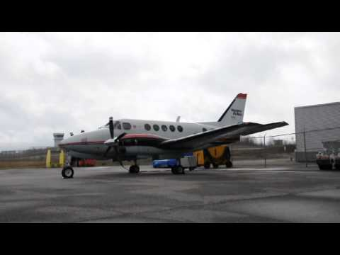 Canadore College - Beech King Air A100 - C-GISH - Engine Run Up