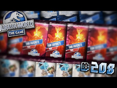 MORE PACK OPENINGS + HYBRID DRAFT!! || Jurassic World - The Game - Ep208 HD