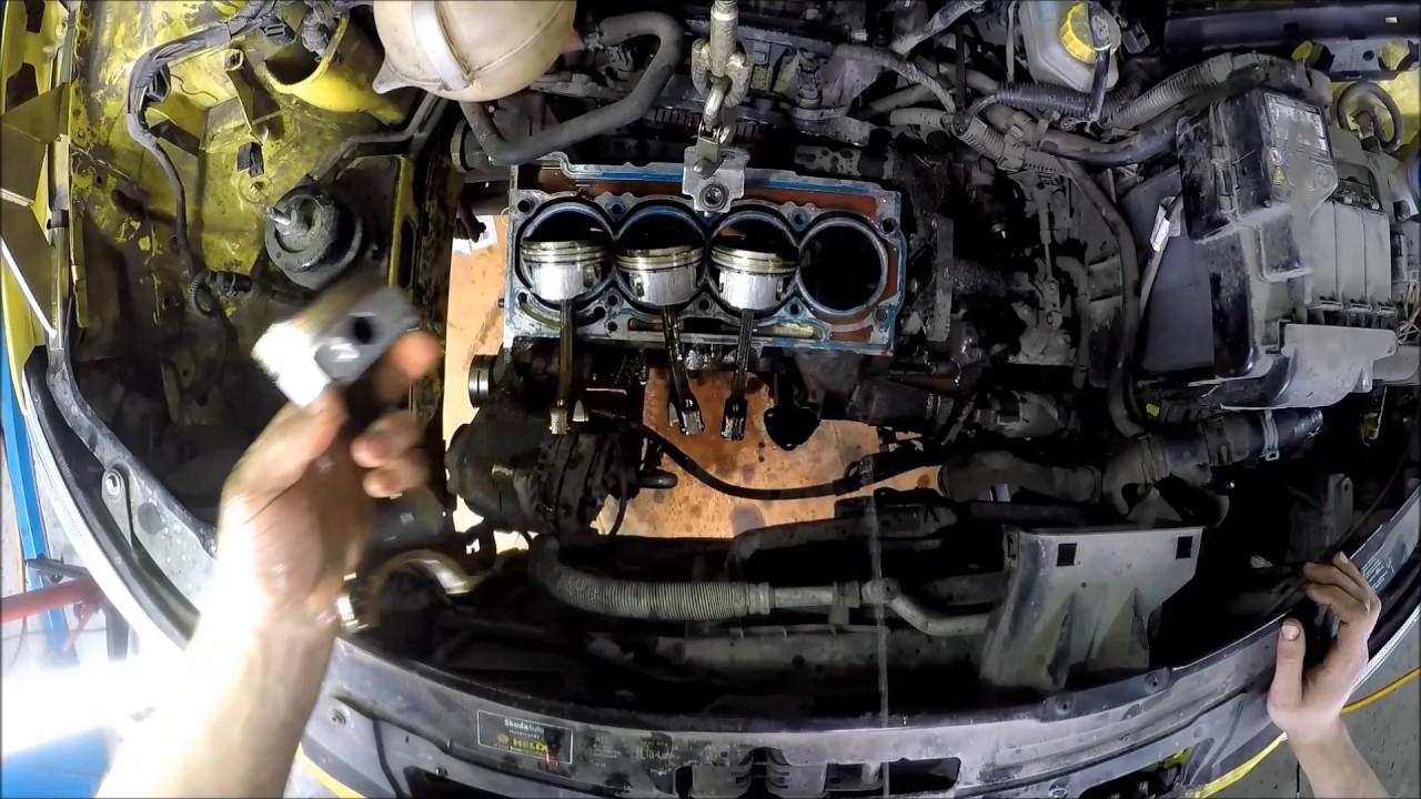 Разборка двигателя 1.6MPI