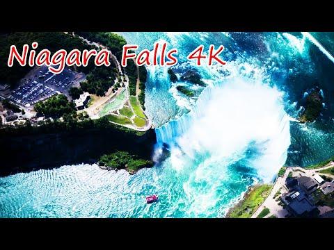 NIAGARA FALLS - ONTARIO, CANADA 4K UHD | Niagara Falls Fireworks At The END