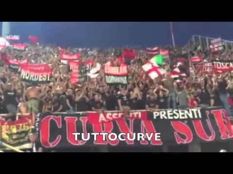Fiorentina - Milan 2-0 23.08.2015 ULTRAS Curva Sud Milano in trasferta