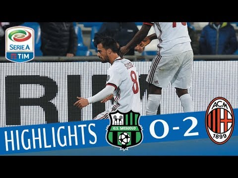 Sassuolo - Milan 0 - 2 - Highlights - Giornata 12 - Serie A TIM 2017/18