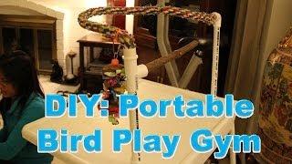 Diy: Pvc Portable Bird Gym