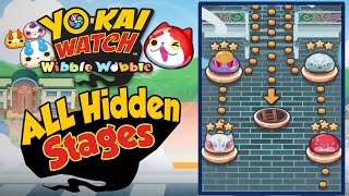 Yo-Kai Watch Wibble Wobble - ALL Hidden Stages & Requirements! [Tips & Tricks iOS Android Gameplay]