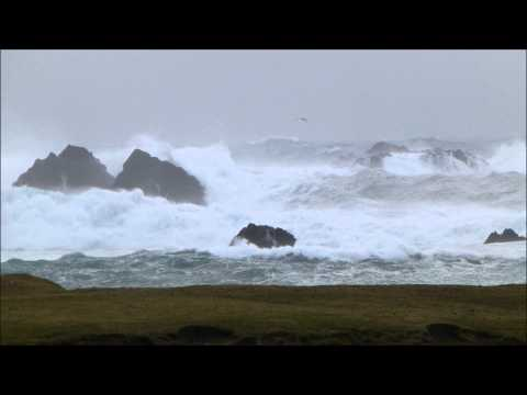 Big Waves South Harbour, Fair Isle