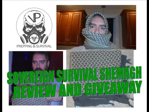 Sovereign Survival shemagh review and giveaway- It's like a bandanna on steroids!