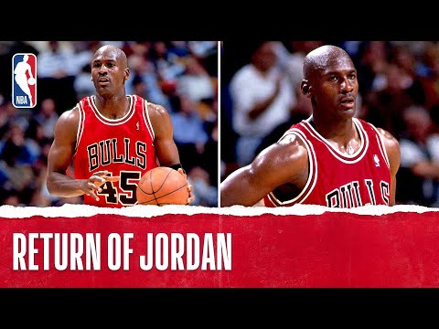 Michael Jordan's 1st Game Back!