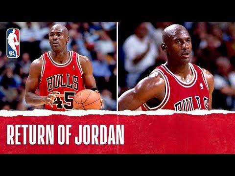 Michael Jordan's 1st Game Back!