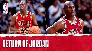 Michael Jordan s 1st Game Back!