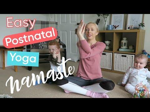 4 Minute Postnatal Yoga Routine  Channel Mum