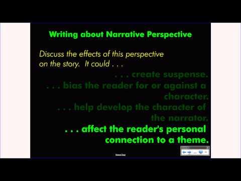 English 8 Short Fiction: Narrative Perspective Concepts