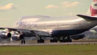 Boeing 747-400 *OneWorld* British Airways G-CIVI Takeoff London Heathrow Runway 27L