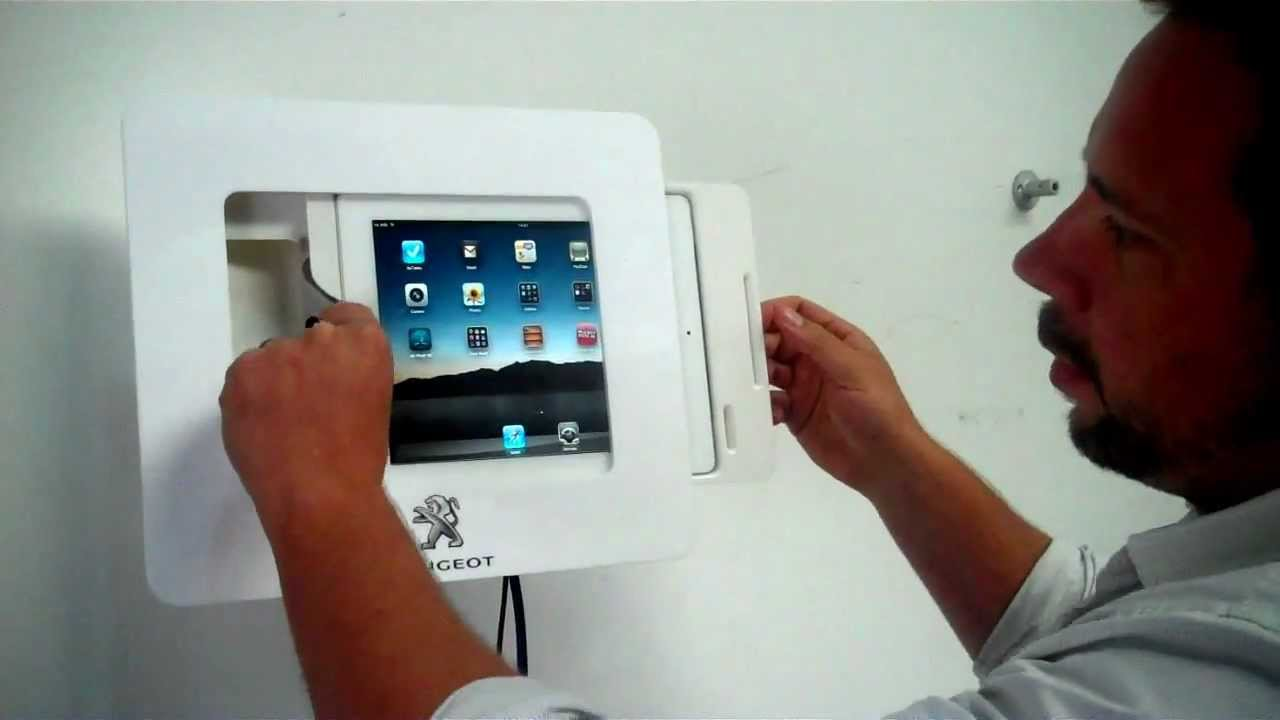 Wall Mounted Ipad Enclosure With Tilt Amp Rotate Function