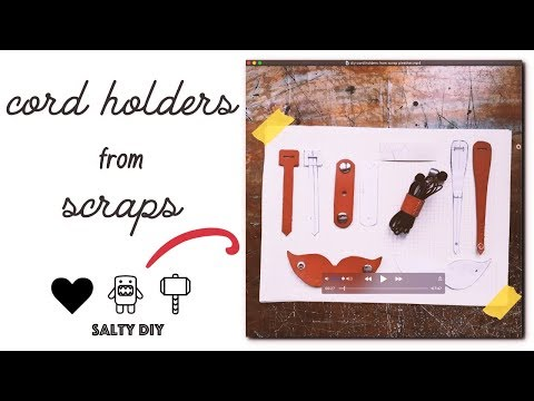 DIY 7 Cord Holders from Scrap Pleather + Free Pattern