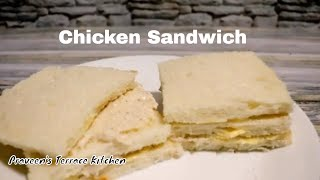 Chicken Sandwich Recipe | Quick and Easy Chicken Mayonnaise Sandwich By Praveen