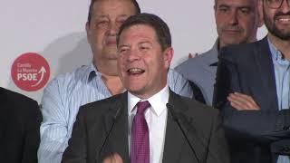 Intervención de Emiliano García-Page tras la mayoría absoluta