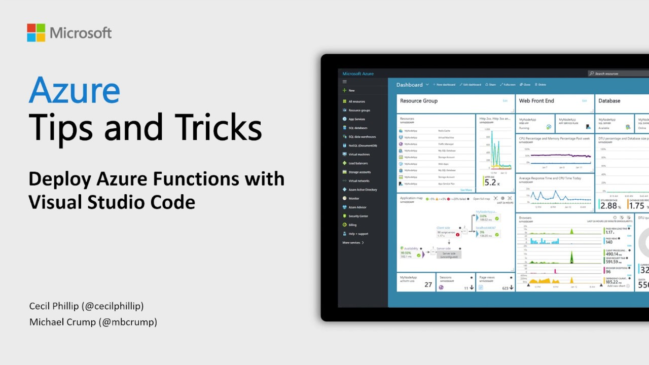 Azure Tips and Tricks Video - Deploy Azure Functions with Visual Studio Code